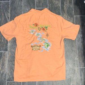 Tommy Bahama Men's Silk Embroidered Hawaii Shirt